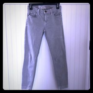 Current Elliott skinny grey jean